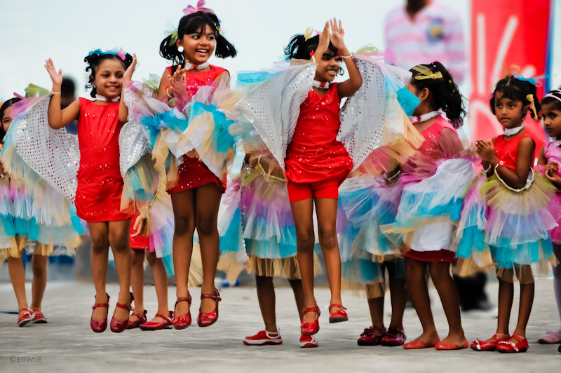 foto kleur Indische meisjes